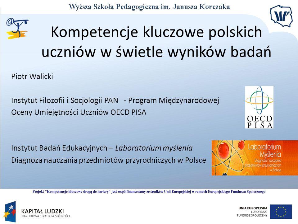 Kompetencje kluczowe polskich uczniów w świetle wyników badań