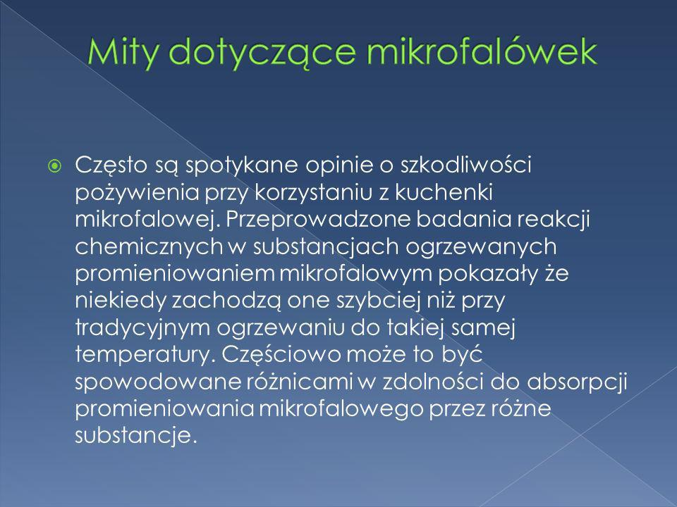 Mity dotyczące mikrofalówek