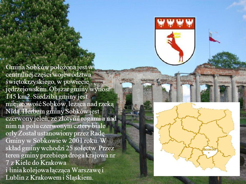 Gmina Sobków położona jest w centralnej części województwa świętokrzyskiego, w powiecie jędrzejowskim.