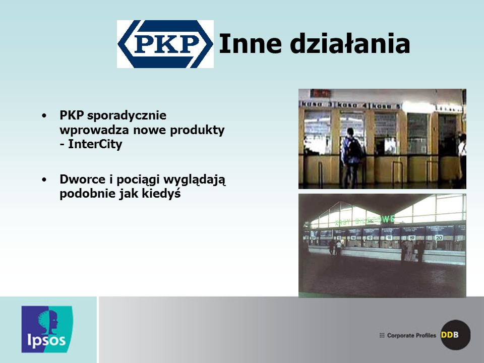 Inne działania PKP sporadycznie wprowadza nowe produkty - InterCity