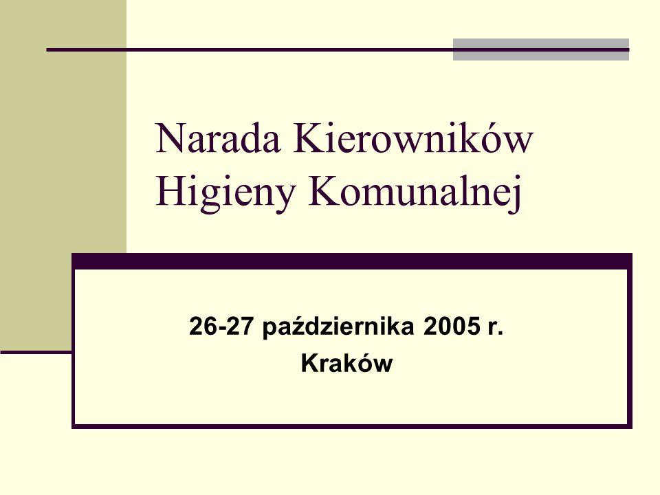 Narada Kierowników Higieny Komunalnej