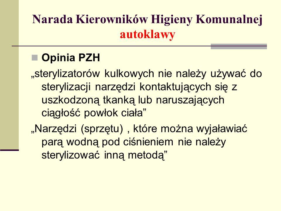 Narada Kierowników Higieny Komunalnej autoklawy