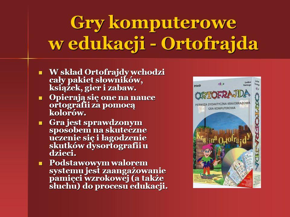 Gry komputerowe w edukacji - Ortofrajda