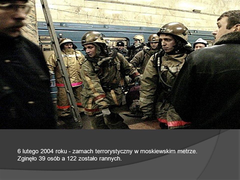 6 lutego 2004 roku - zamach terrorystyczny w moskiewskim metrze