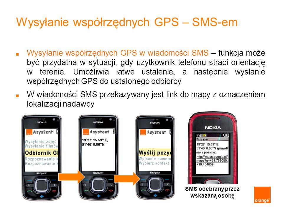 Wysyłanie współrzędnych GPS – SMS-em