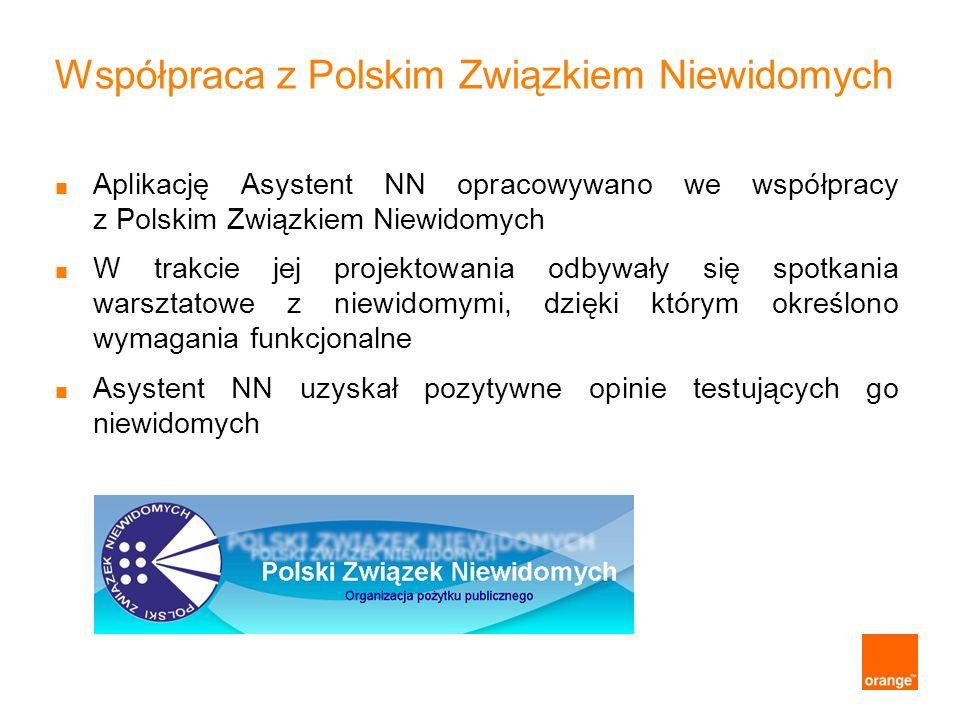 Współpraca z Polskim Związkiem Niewidomych