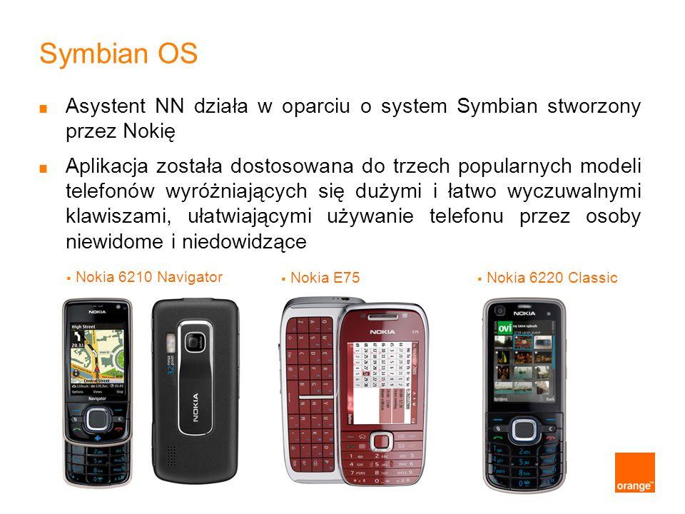 Symbian OS Asystent NN działa w oparciu o system Symbian stworzony przez Nokię.