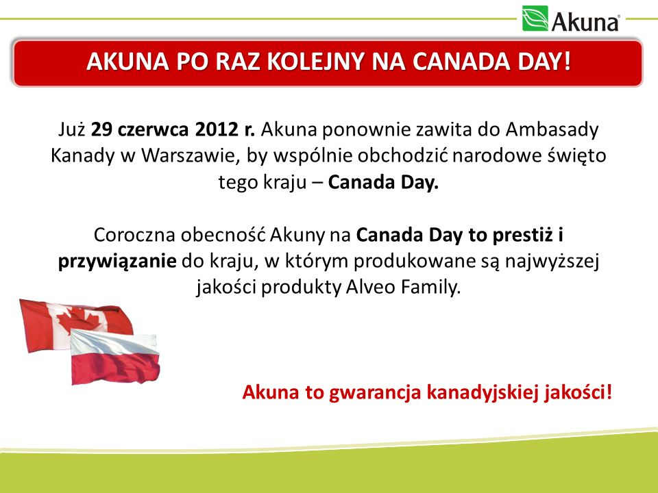 Akuna po raz kolejny na Canada Day!