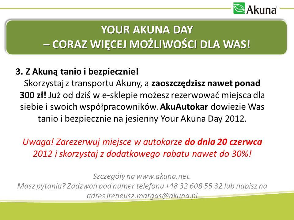 Your Akuna Day – coraz więcej możliwości dla Was!