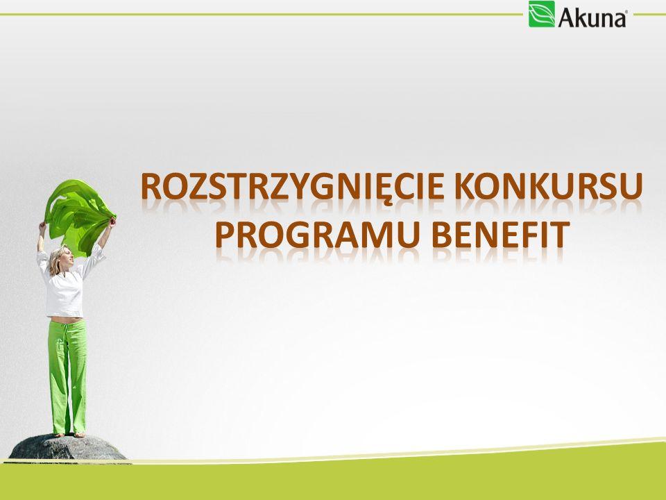 Rozstrzygnięcie konkursu Programu Benefit