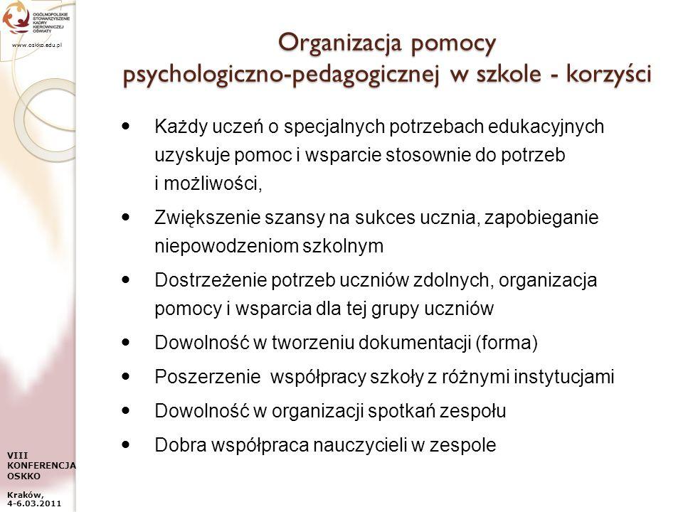 Organizacja pomocy psychologiczno-pedagogicznej w szkole - korzyści