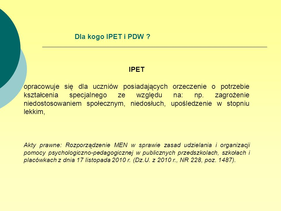 Dla kogo IPET i PDW IPET.