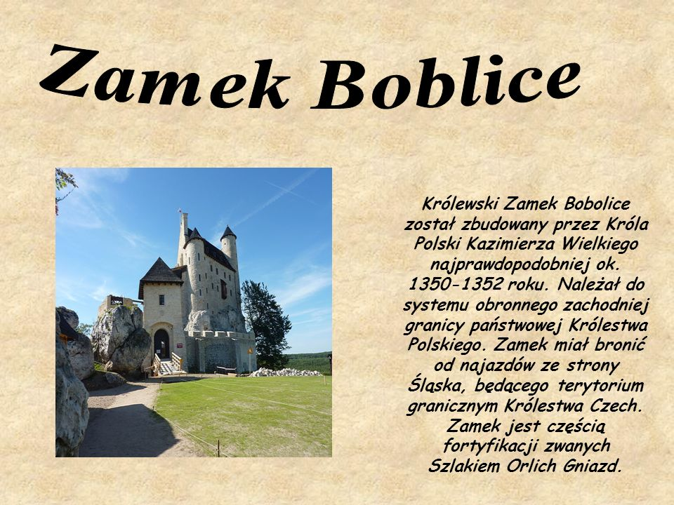 Zamek Boblice