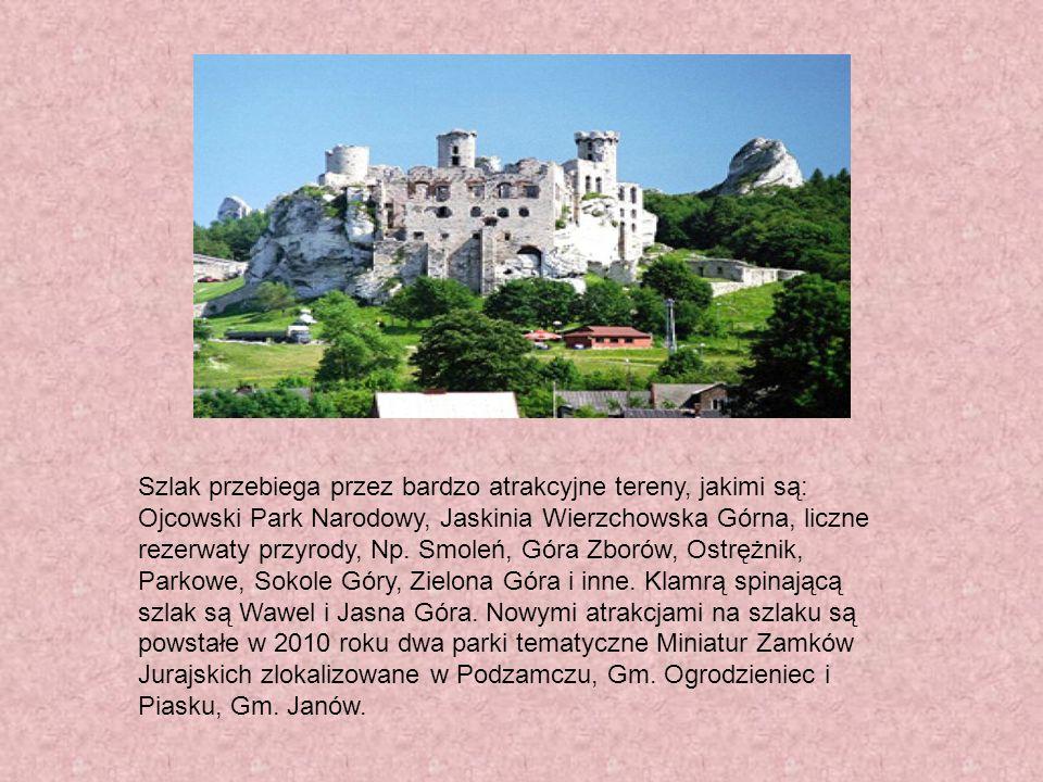 Szlak przebiega przez bardzo atrakcyjne tereny, jakimi są: Ojcowski Park Narodowy, Jaskinia Wierzchowska Górna, liczne rezerwaty przyrody, Np.