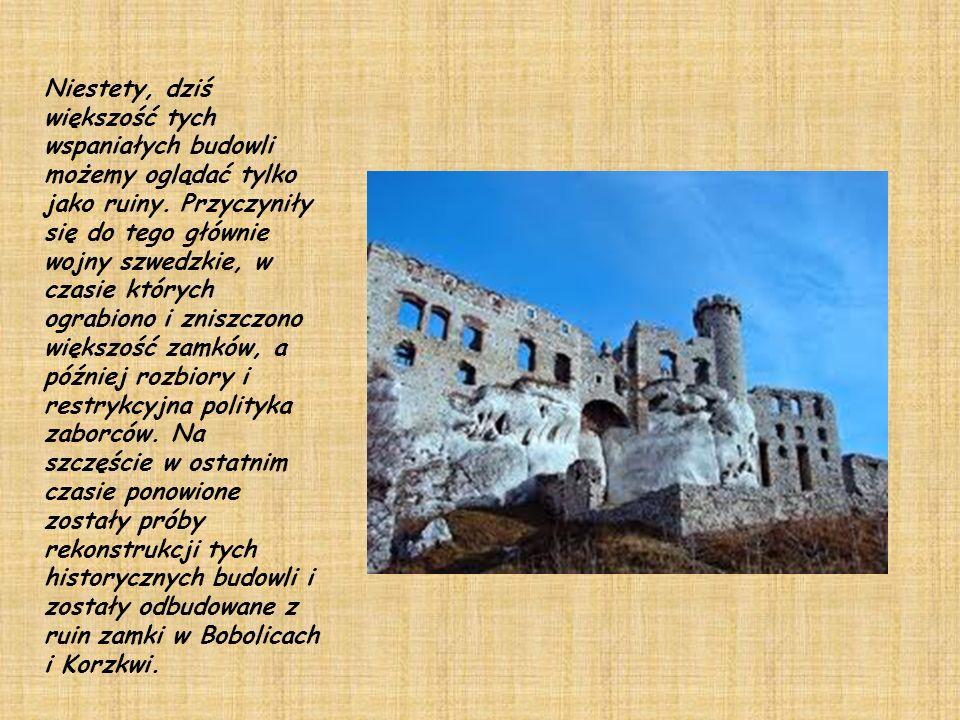 Niestety, dziś większość tych wspaniałych budowli możemy oglądać tylko jako ruiny.
