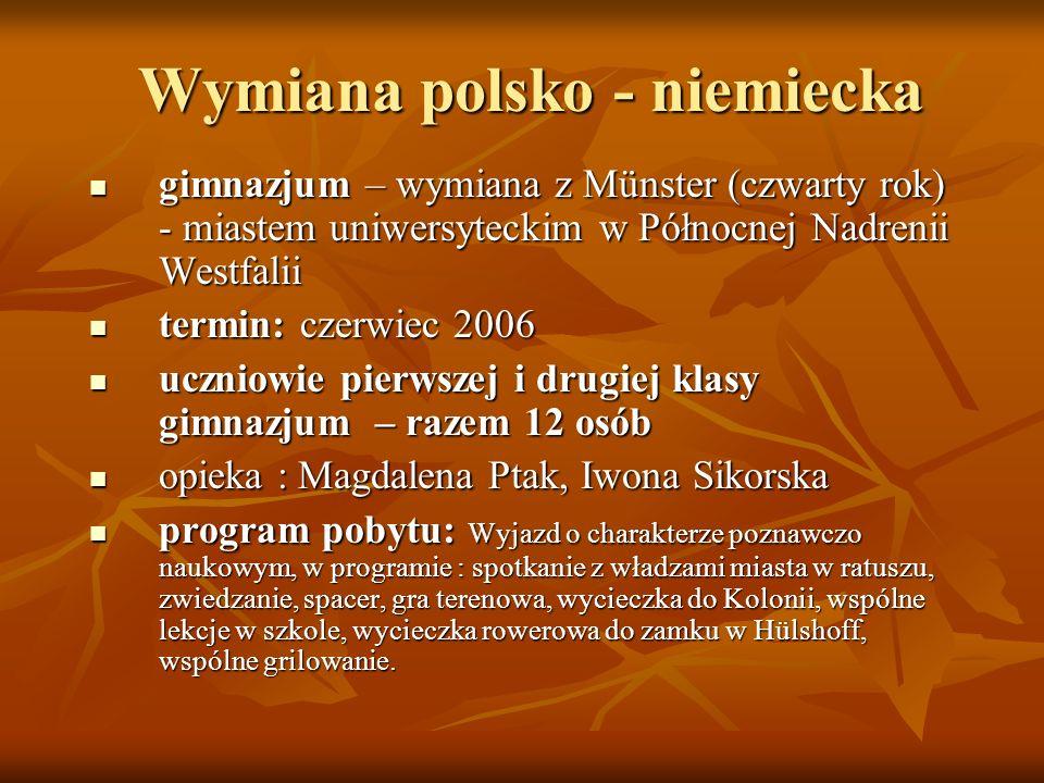 Wymiana polsko - niemiecka