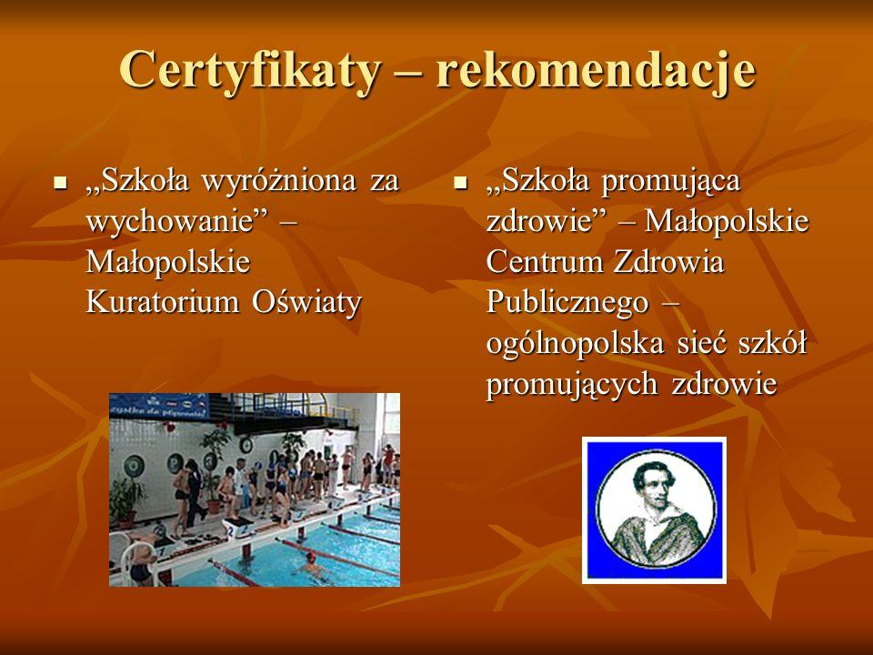 Certyfikaty – rekomendacje