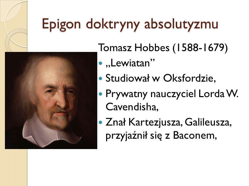 Epigon doktryny absolutyzmu