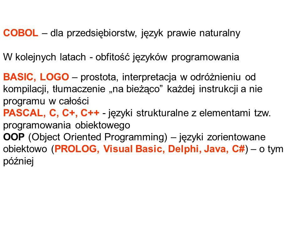COBOL – dla przedsiębiorstw, język prawie naturalny