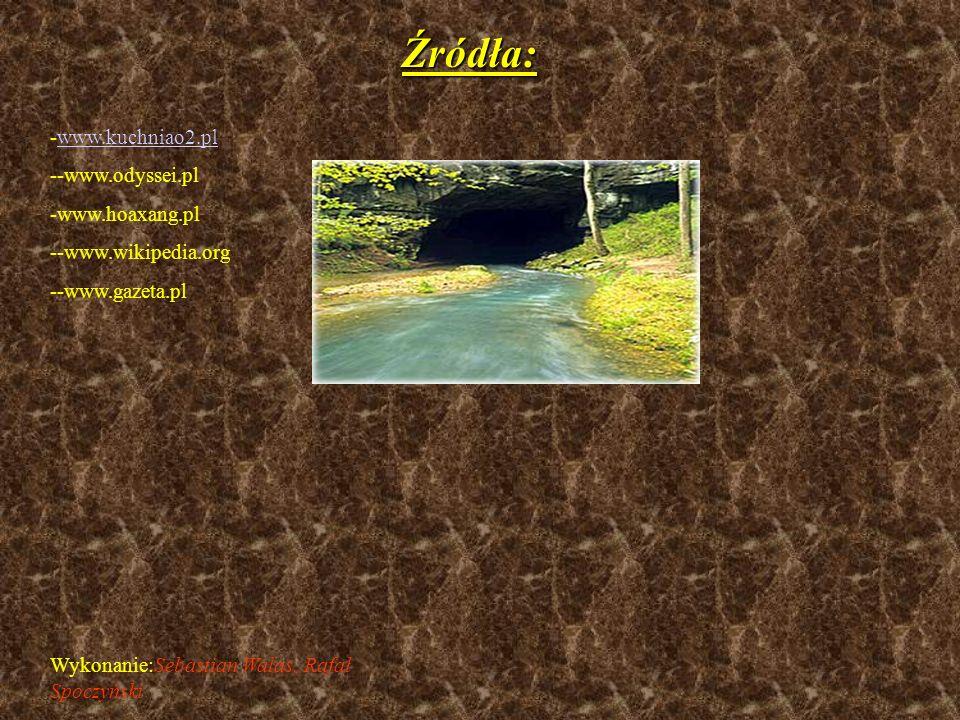 Źródła: www.kuchniao2.pl -www.odyssei.pl www.hoaxang.pl