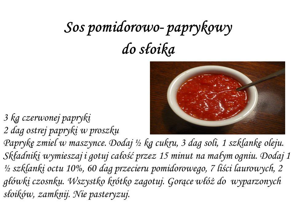 Sos pomidorowo- paprykowy do słoika