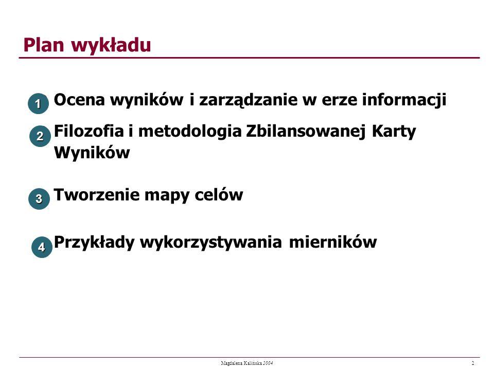 Plan wykładu Ocena wyników i zarządzanie w erze informacji