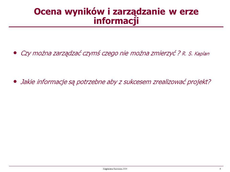Ocena wyników i zarządzanie w erze informacji