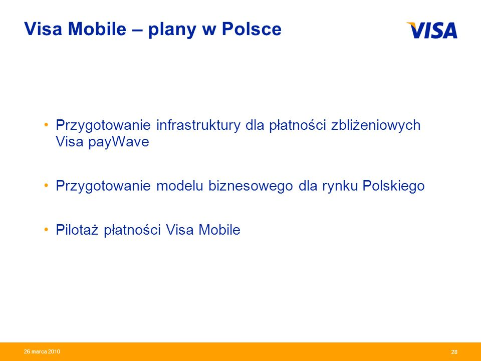 Visa Mobile – plany w Polsce
