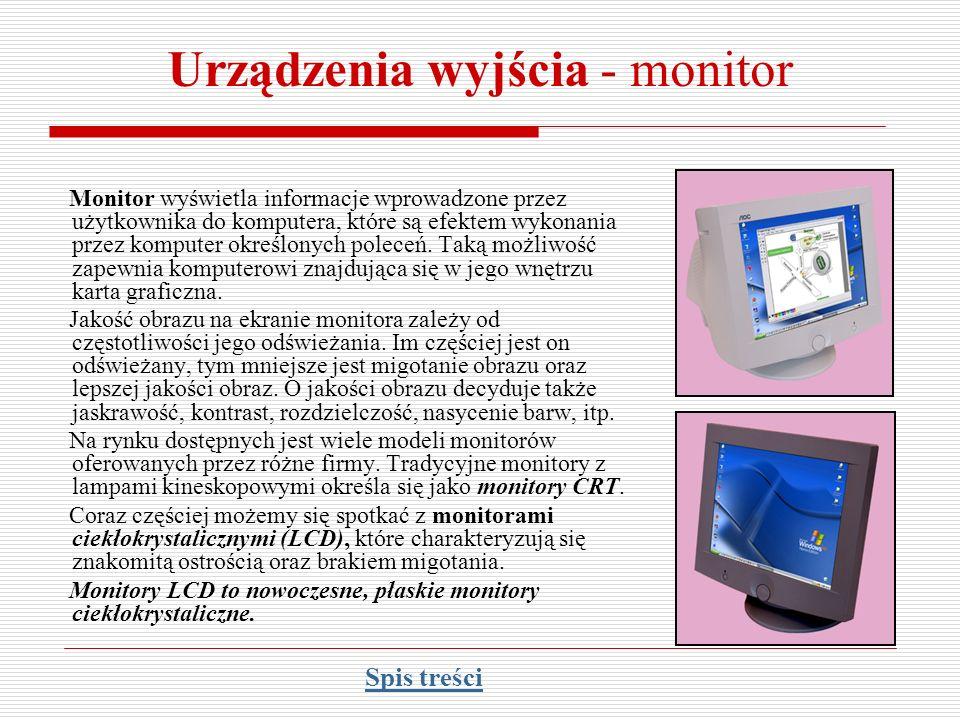 Urządzenia wyjścia - monitor