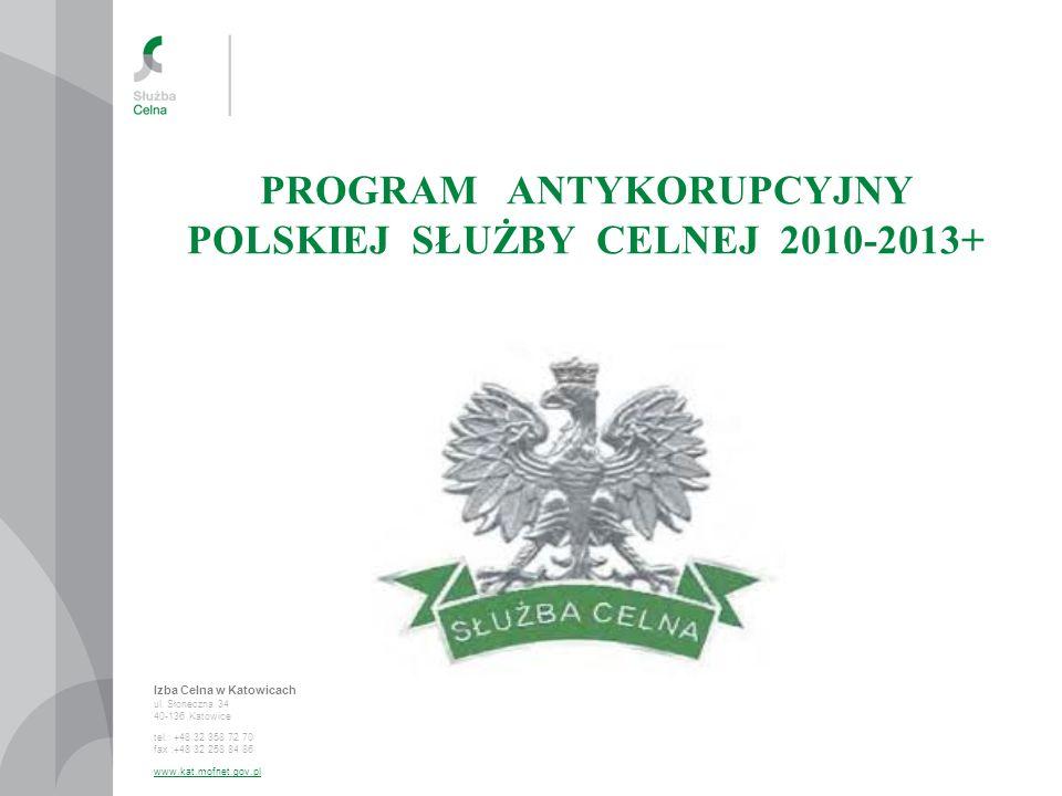 PROGRAM ANTYKORUPCYJNY POLSKIEJ SŁUŻBY CELNEJ 2010-2013+