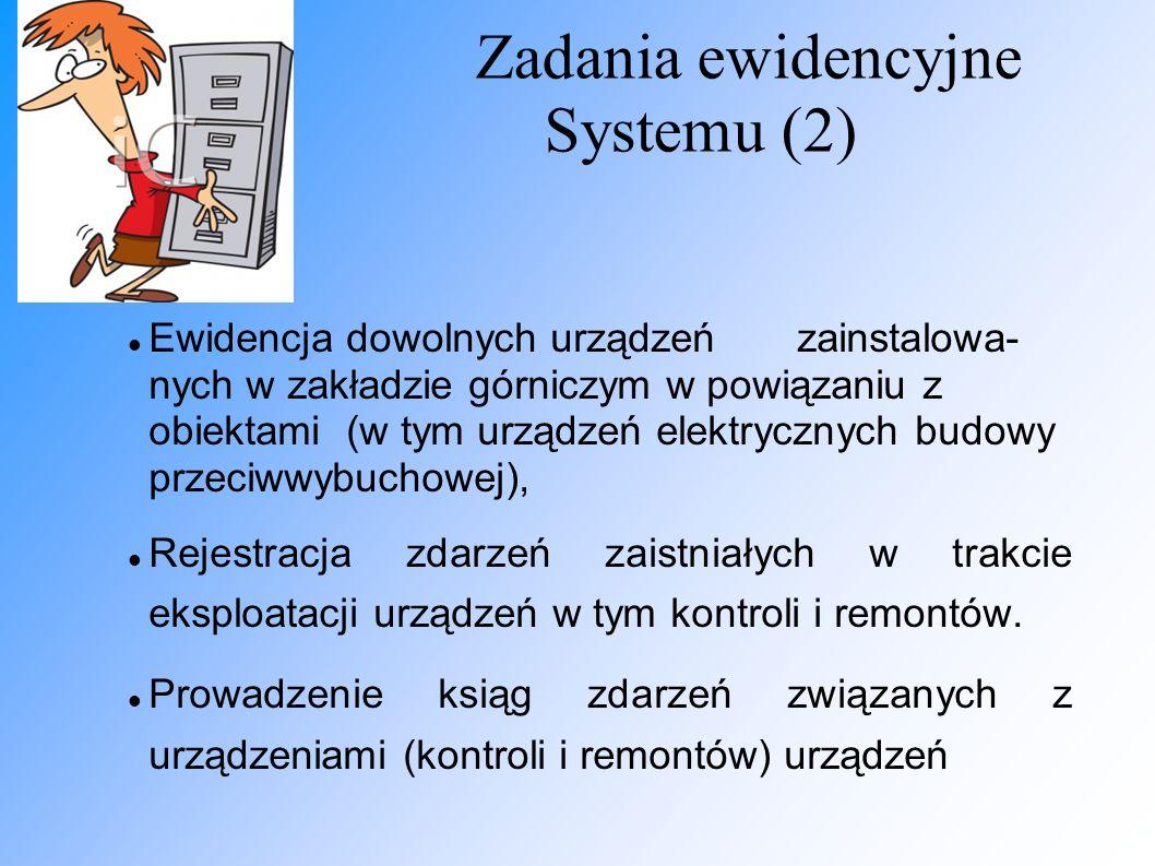 Zadania ewidencyjne Systemu (2)