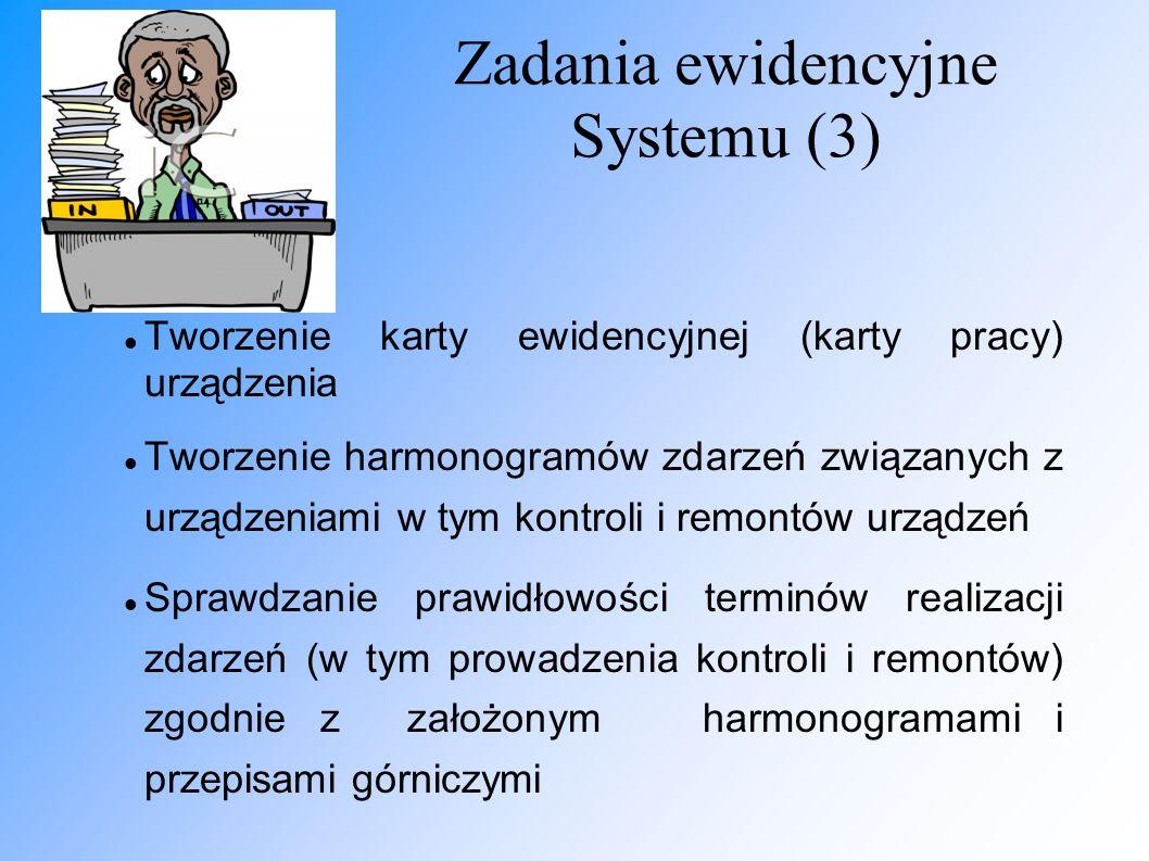 Zadania ewidencyjne Systemu (3)