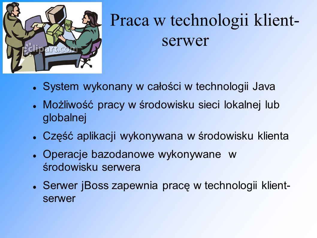 Praca w technologii klient-serwer