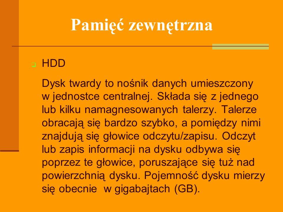 Pamięć zewnętrzna HDD.