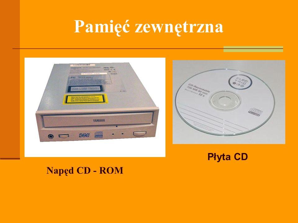 Pamięć zewnętrzna Płyta CD Napęd CD - ROM