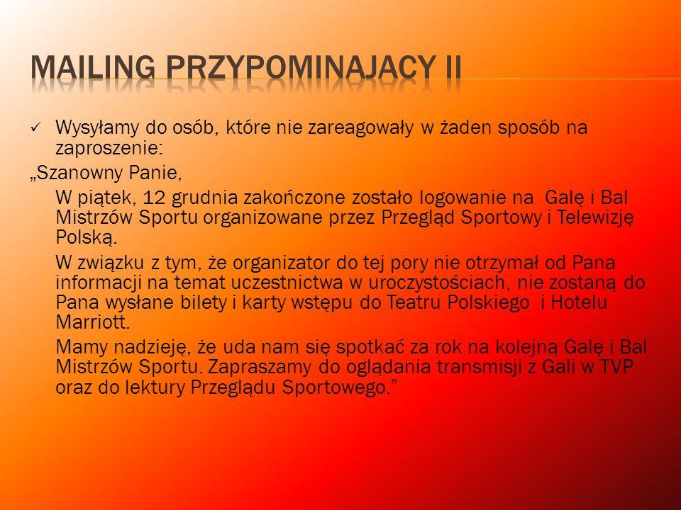 MAILING PRZYPOMINAJACY II