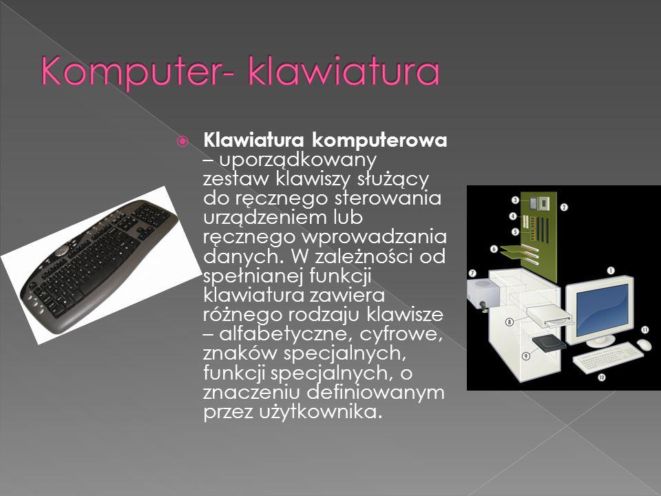 Komputer- klawiatura