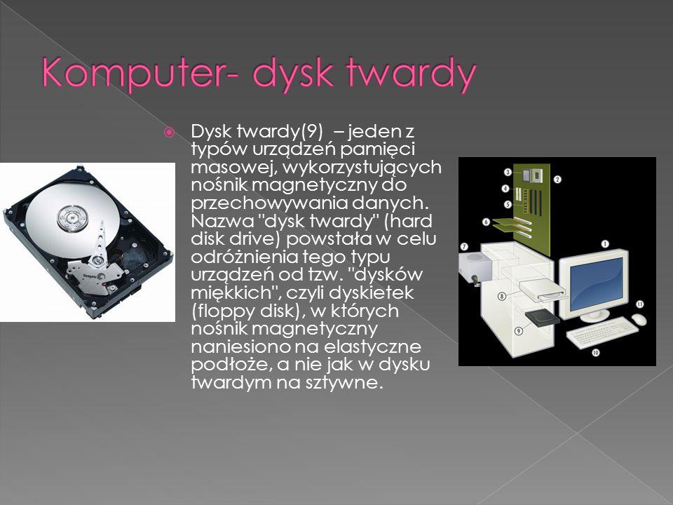 Komputer- dysk twardy