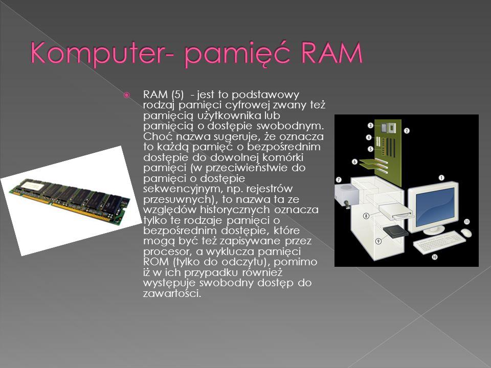 Komputer- pamięć RAM