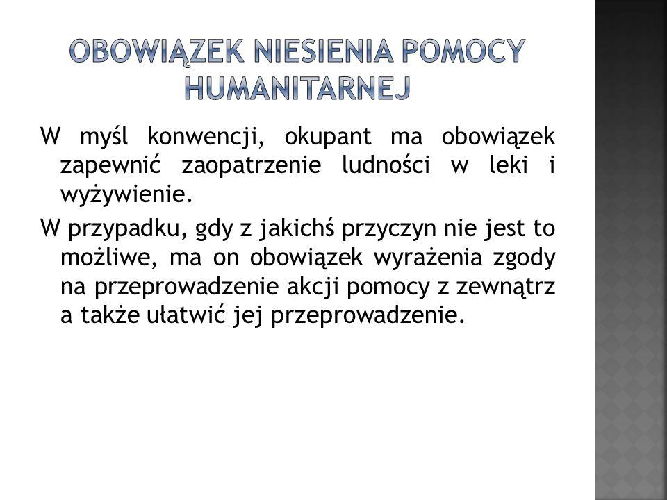 Obowiązek niesienia pomocy humanitarnej