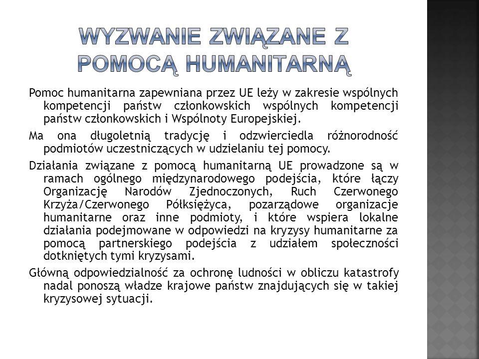 Wyzwanie związane z pomocą humanitarną
