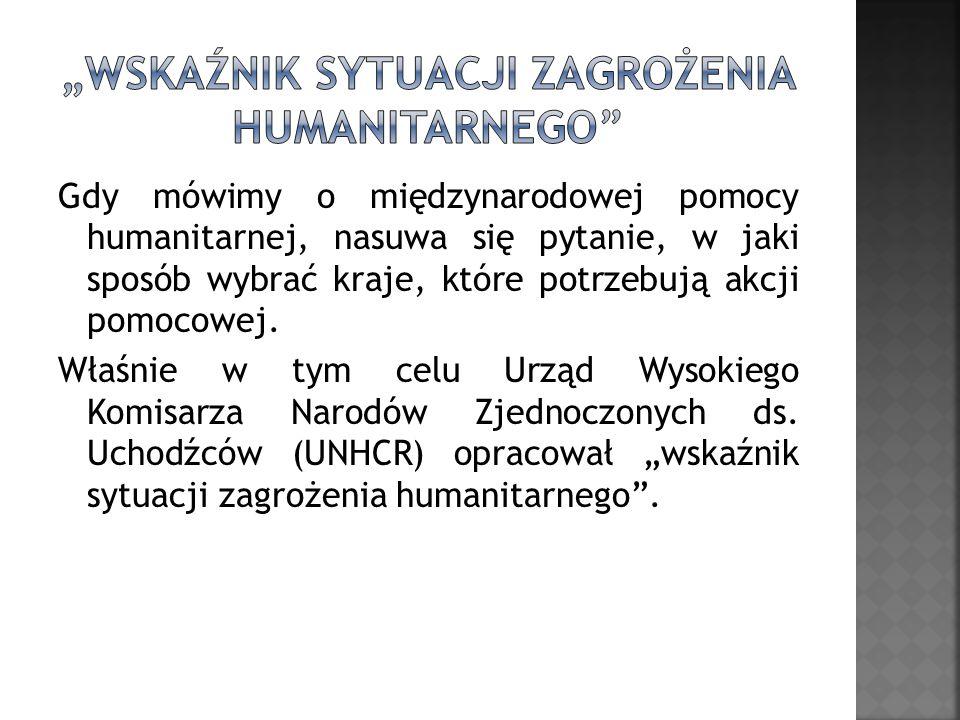 """""""wskaźnik sytuacji zagrożenia humanitarnego"""