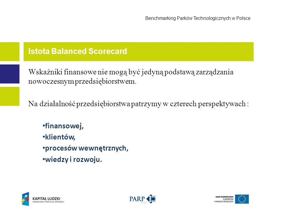 Istota Balanced Scorecard