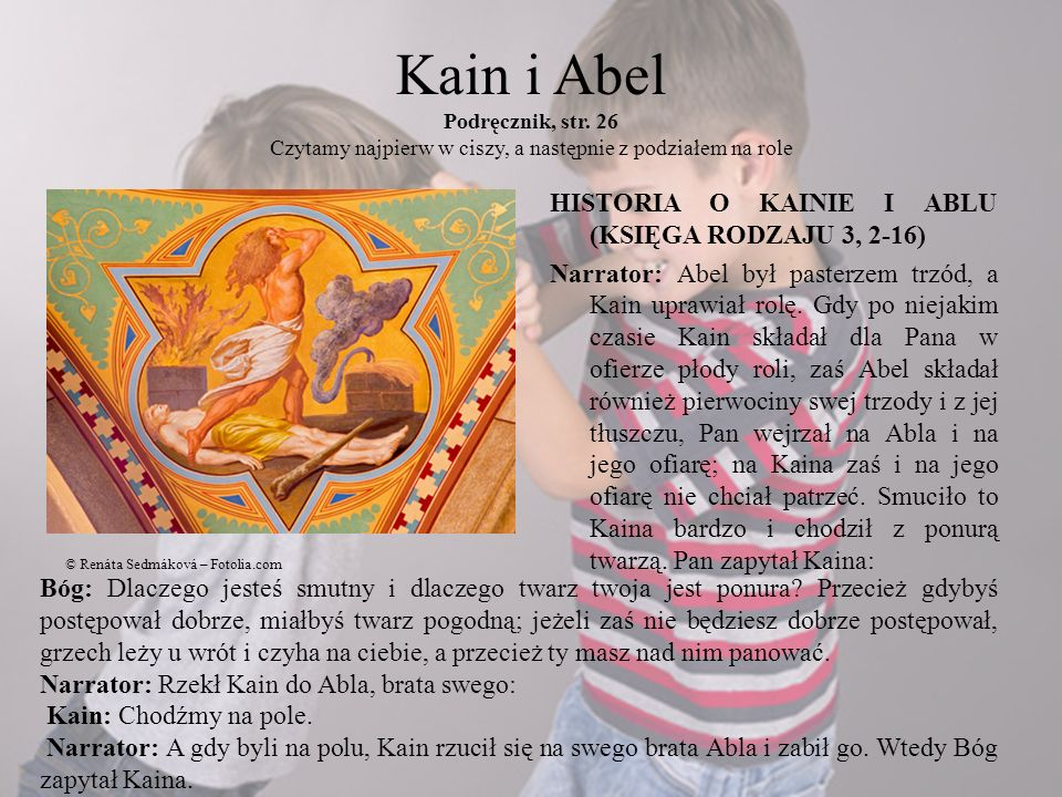 Kain i Abel Podręcznik, str
