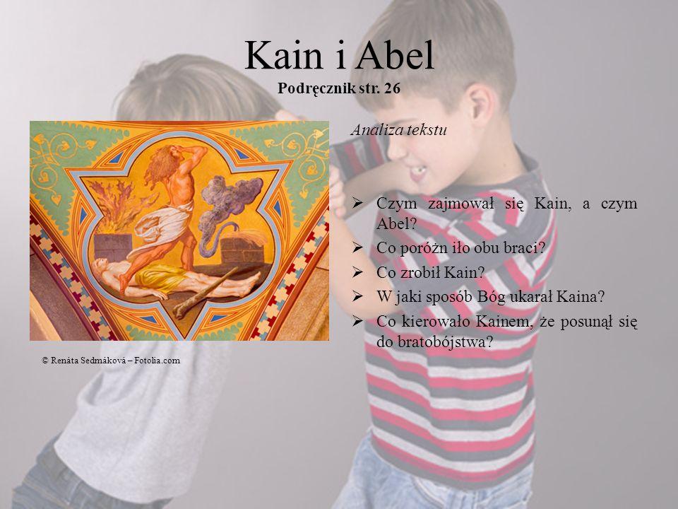 Kain i Abel Podręcznik str. 26
