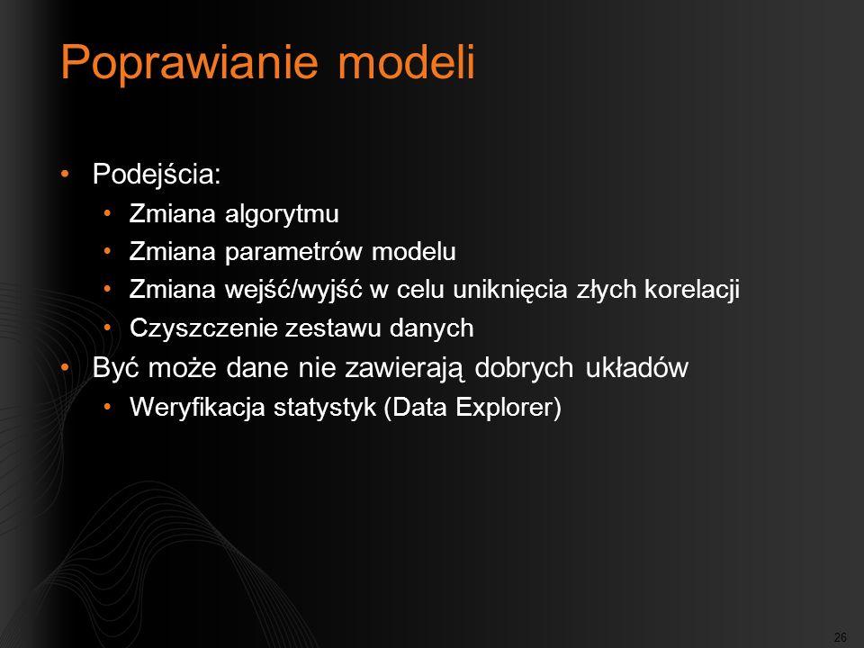 Poprawianie modeli Podejścia: