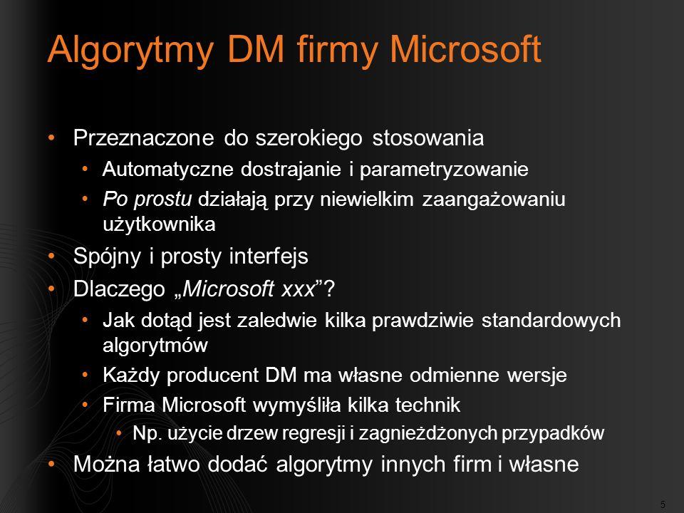 Algorytmy DM firmy Microsoft