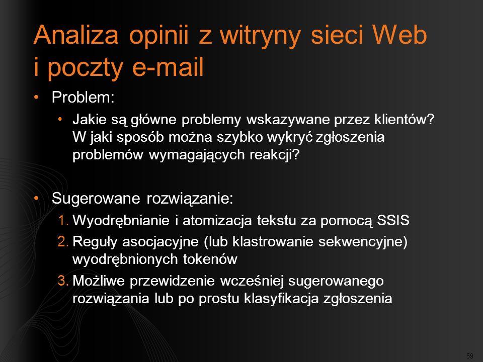 Analiza opinii z witryny sieci Web i poczty e-mail