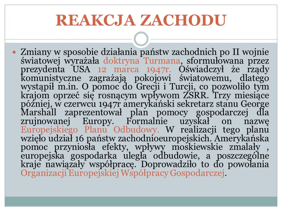 REAKCJA ZACHODU