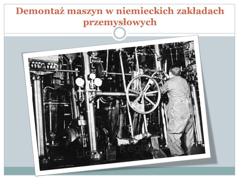 Demontaż maszyn w niemieckich zakładach przemysłowych